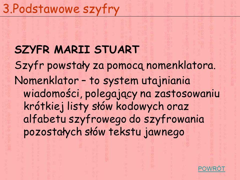 3.Podstawowe szyfry SZYFR MARII STUART