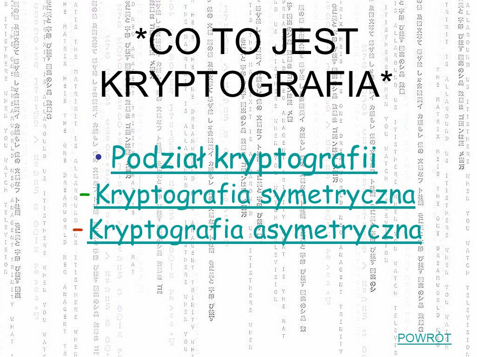 *CO TO JEST KRYPTOGRAFIA*