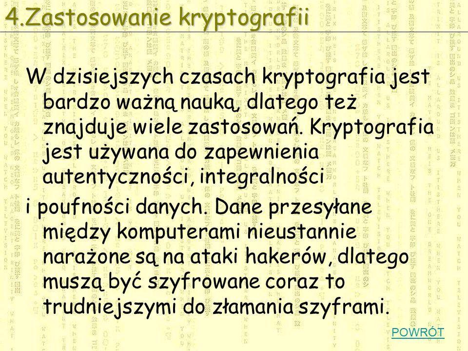 4.Zastosowanie kryptografii