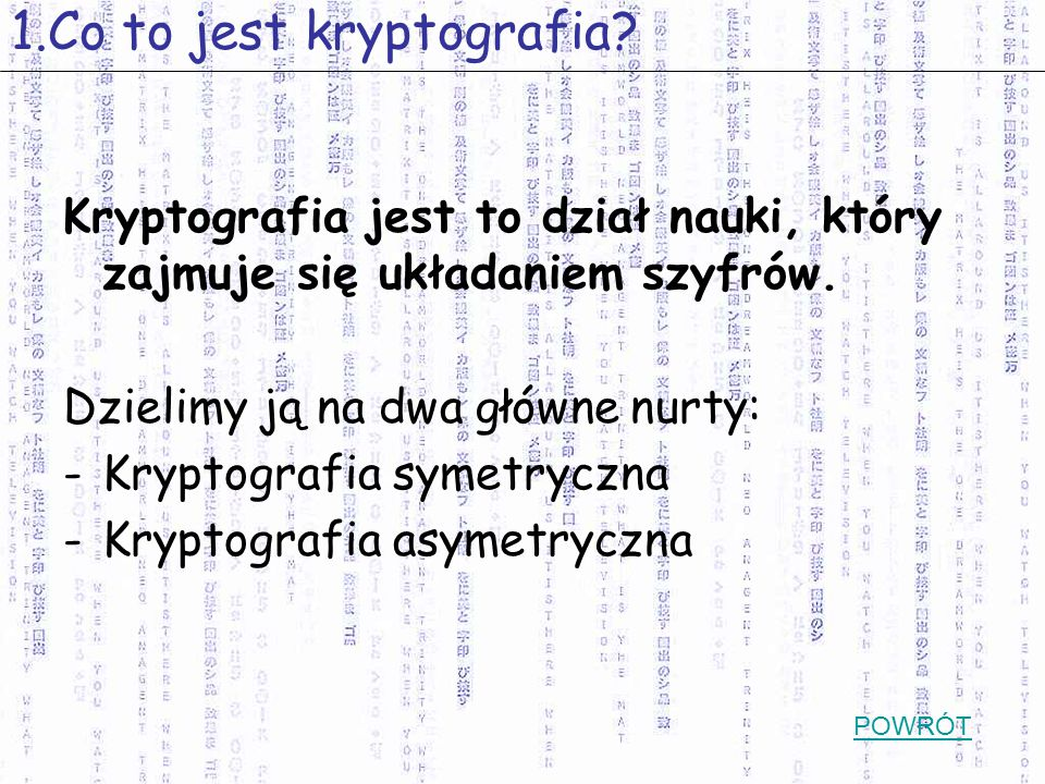 1.Co to jest kryptografia