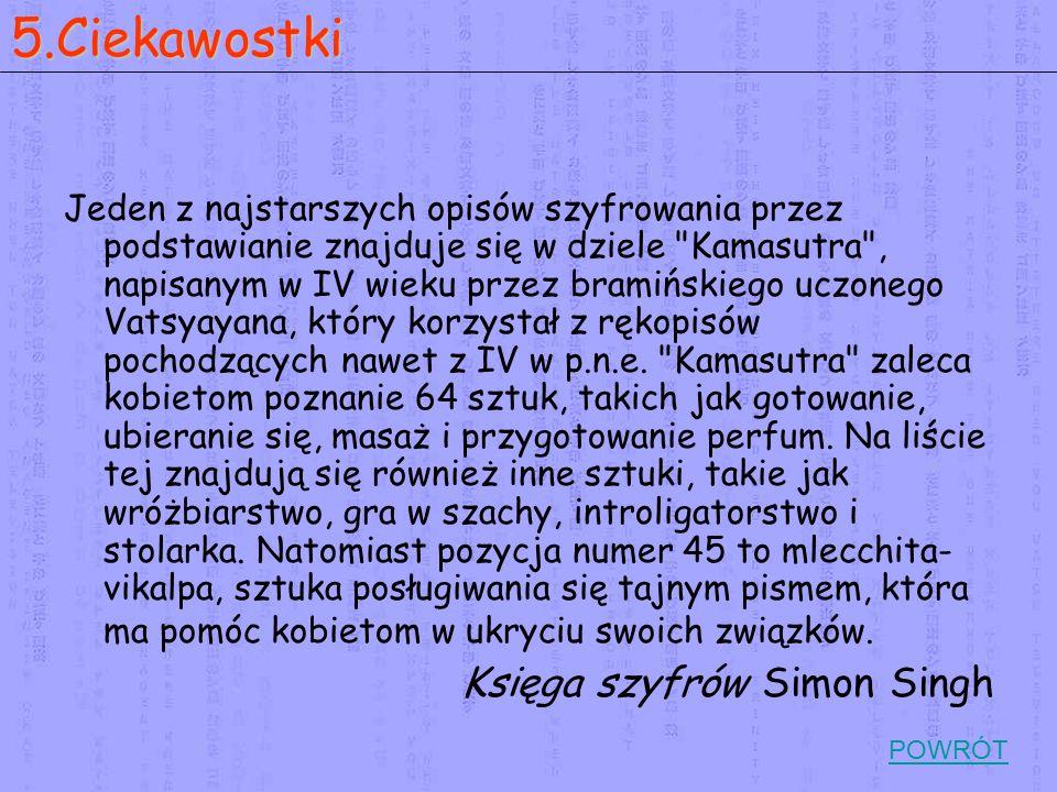 5.Ciekawostki Księga szyfrów Simon Singh