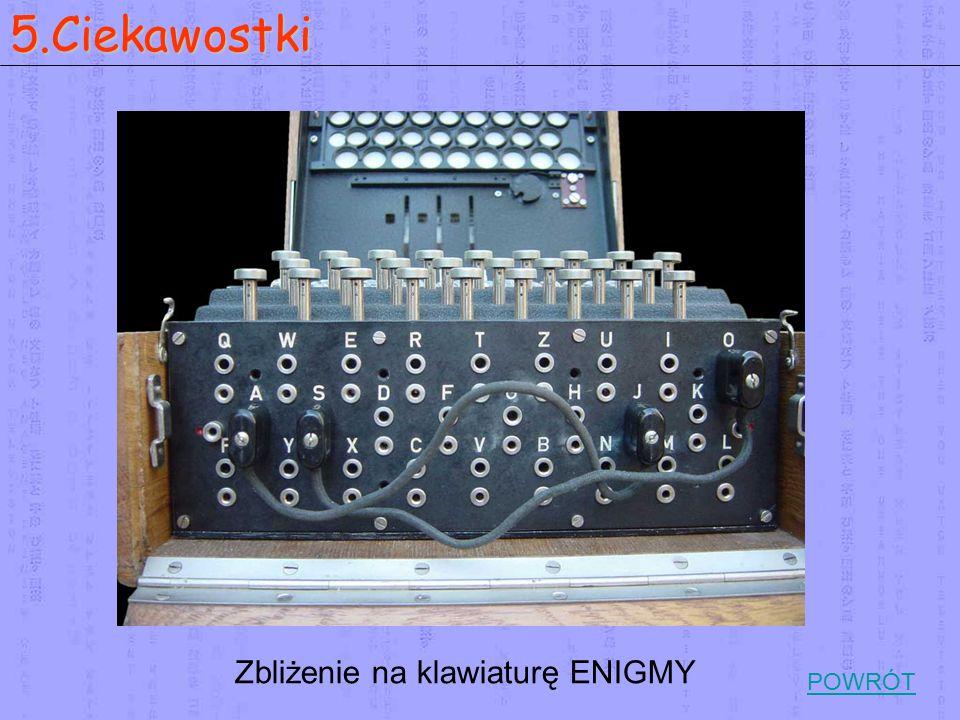 Zbliżenie na klawiaturę ENIGMY