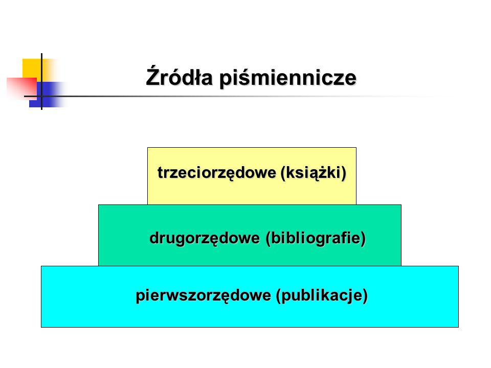 Źródła piśmiennicze trzeciorzędowe (książki)