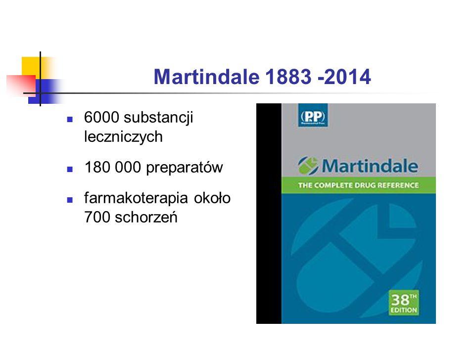 Martindale 1883 -2014 6000 substancji leczniczych 180 000 preparatów