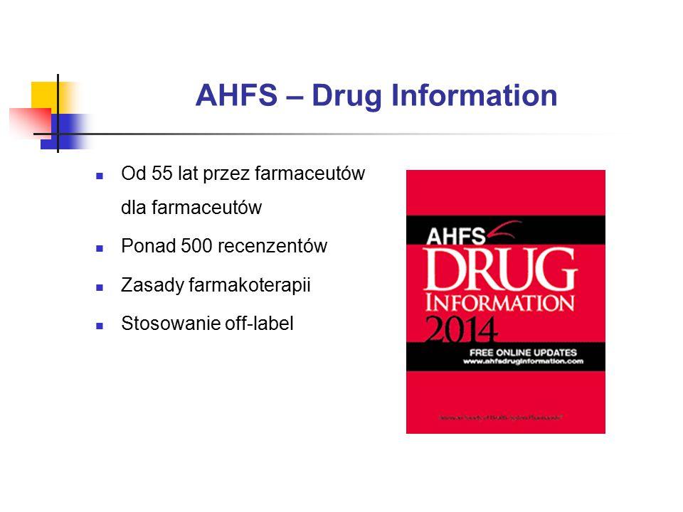 AHFS – Drug Information