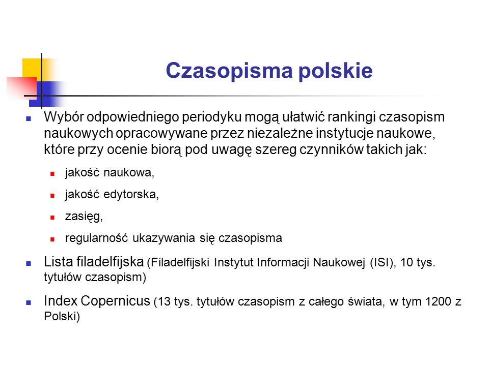 Czasopisma polskie