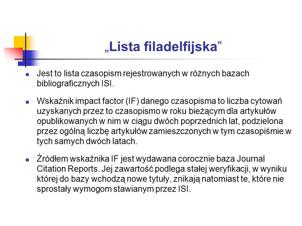 """Lista filadelfijska"