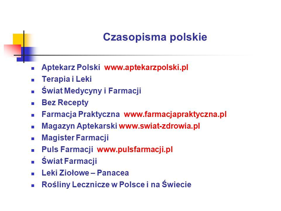 Czasopisma polskie Aptekarz Polski www.aptekarzpolski.pl