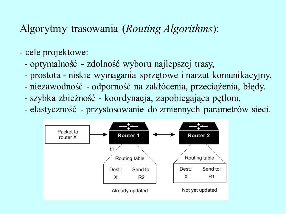 Algorytmy trasowania (Routing Algorithms):