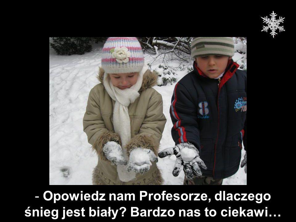 Opowiedz nam Profesorze, dlaczego śnieg jest biały