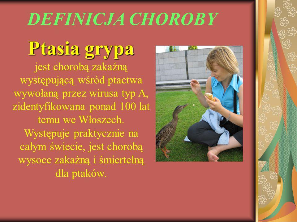 Ptasia grypa DEFINICJA CHOROBY