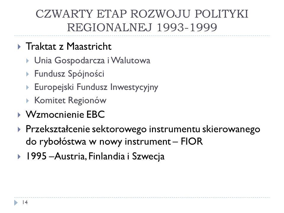 CZWARTY ETAP ROZWOJU POLITYKI REGIONALNEJ 1993-1999