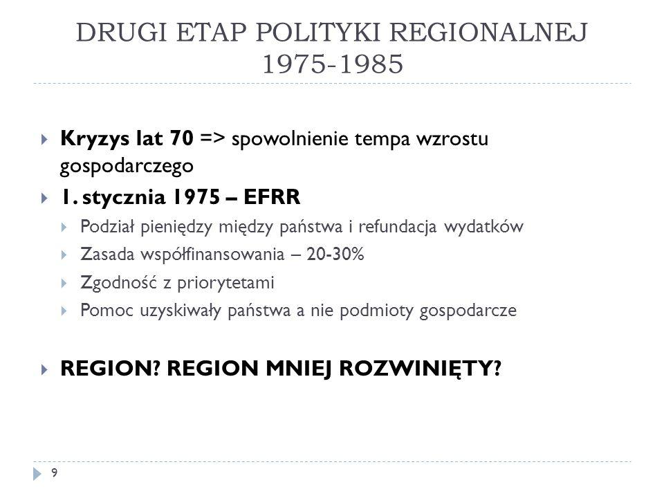 DRUGI ETAP POLITYKI REGIONALNEJ 1975-1985