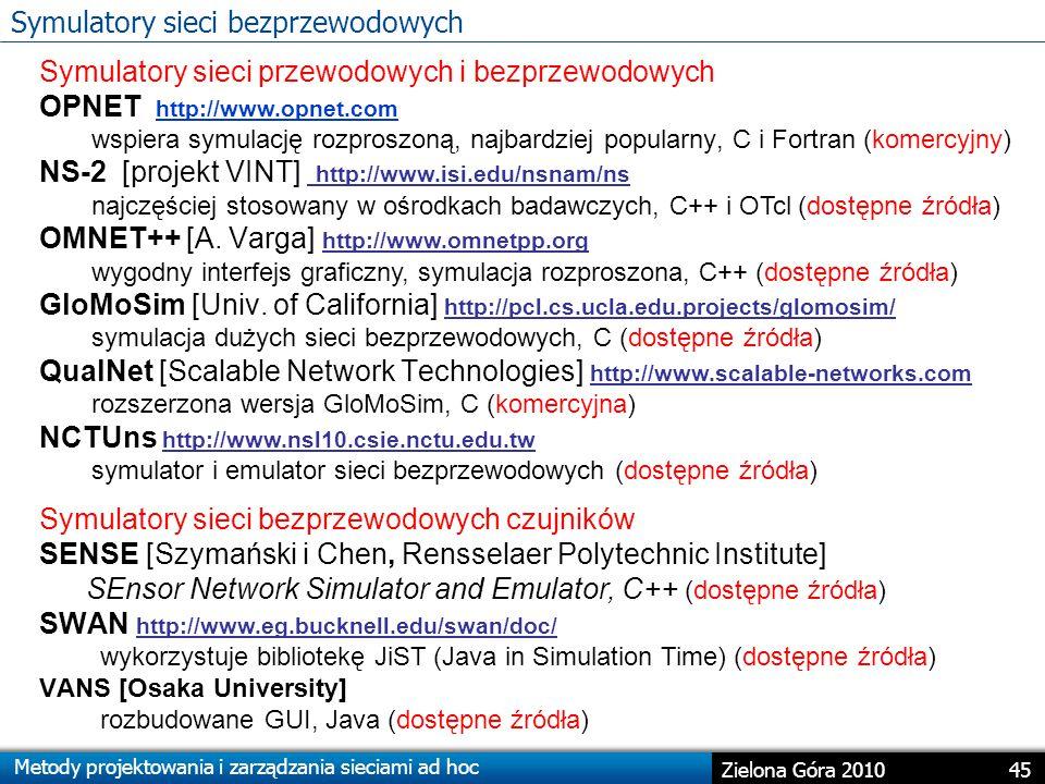 Symulatory sieci bezprzewodowych