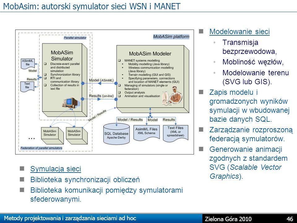 MobAsim: autorski symulator sieci WSN i MANET