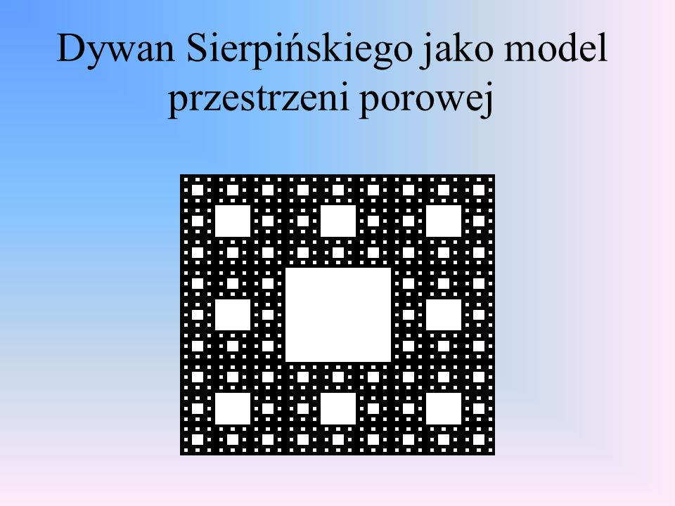 Dywan Sierpińskiego jako model przestrzeni porowej