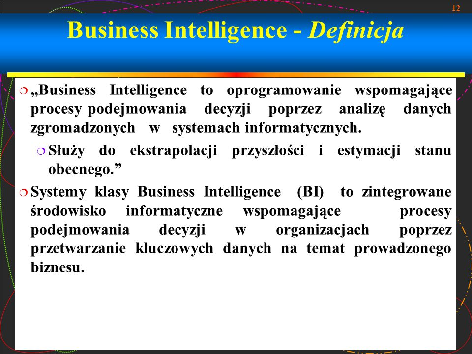 Business Intelligence - Definicja