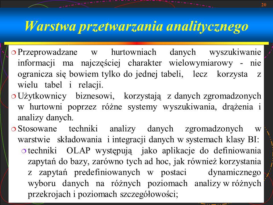 Warstwa przetwarzania analitycznego