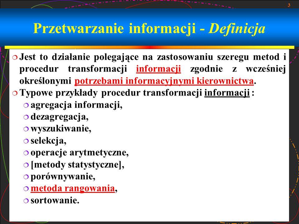 Przetwarzanie informacji - Definicja