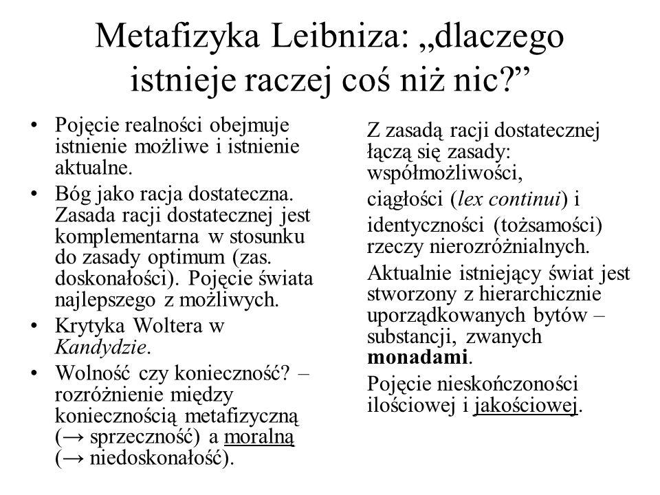 """Metafizyka Leibniza: """"dlaczego istnieje raczej coś niż nic"""