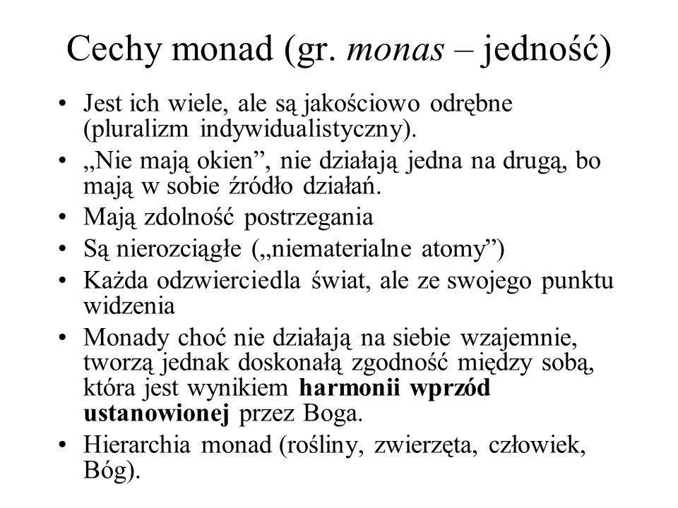 Cechy monad (gr. monas – jedność)