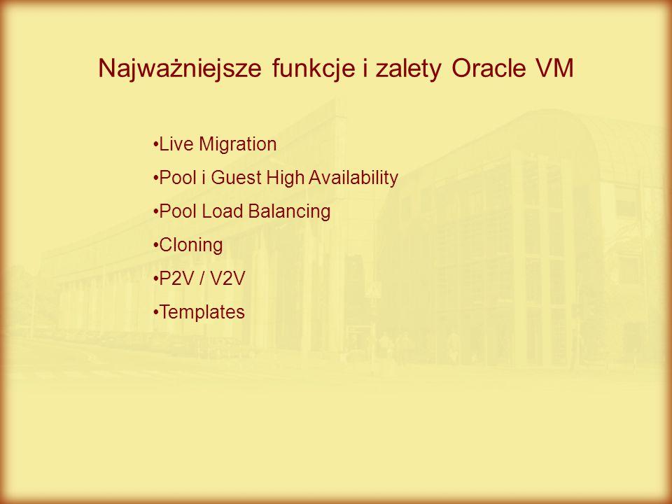 Najważniejsze funkcje i zalety Oracle VM