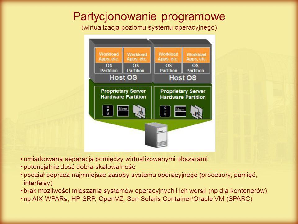 Partycjonowanie programowe (wirtualizacja poziomu systemu operacyjnego)