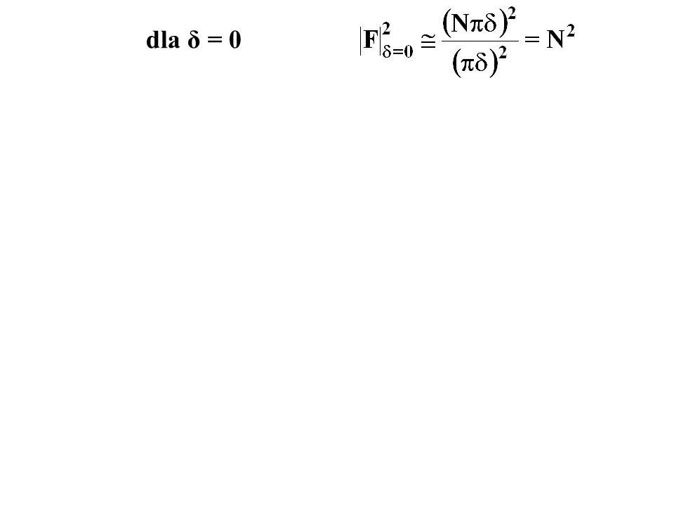 dla δ = 0