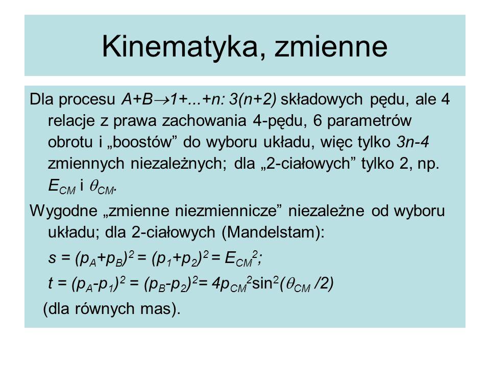 Kinematyka, zmienne