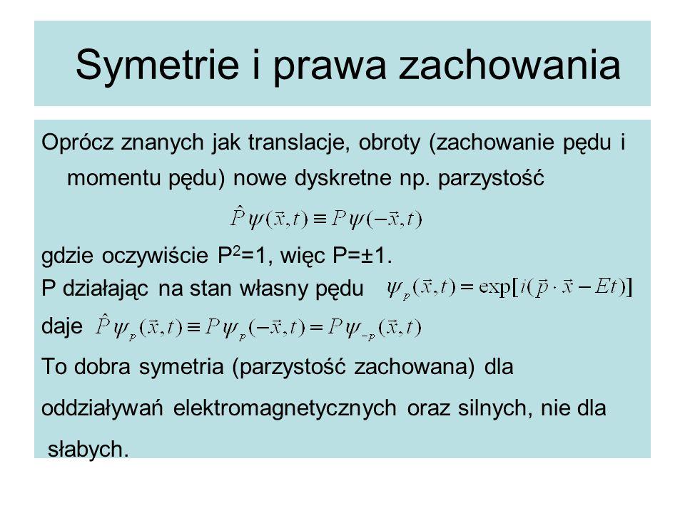 Symetrie i prawa zachowania