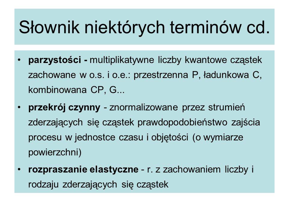 Słownik niektórych terminów cd.