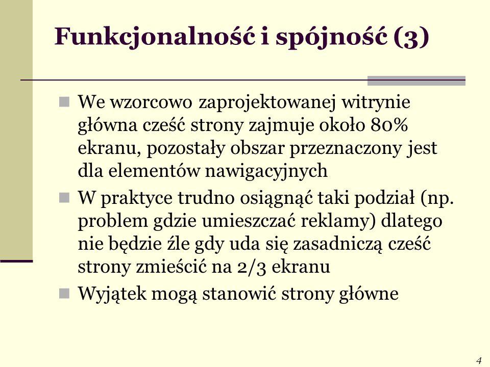 Funkcjonalność i spójność (3)