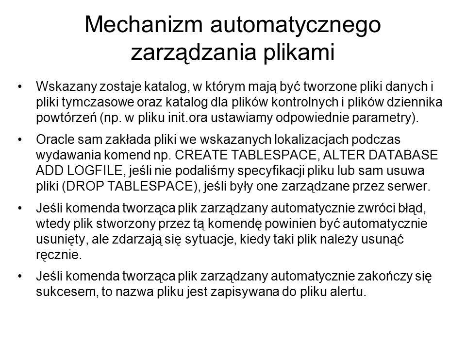 Mechanizm automatycznego zarządzania plikami