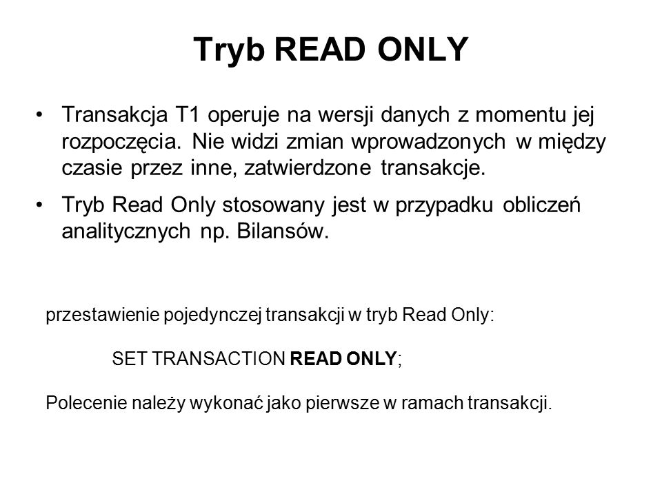 Tryb READ ONLY