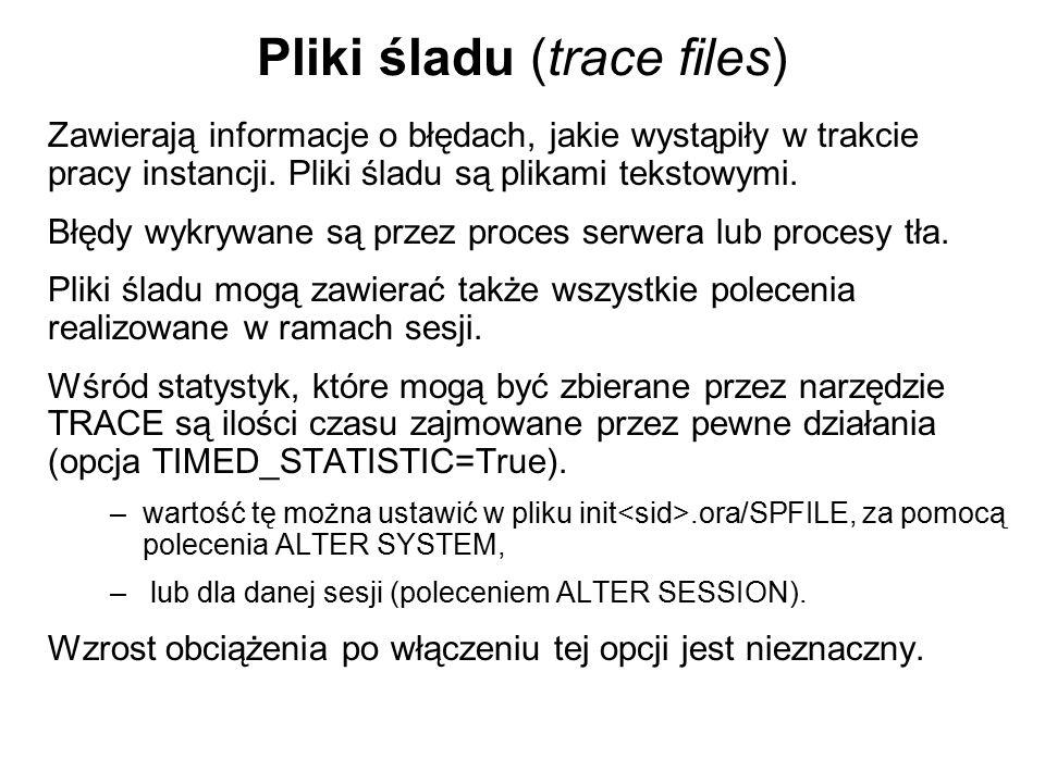 Pliki śladu (trace files)