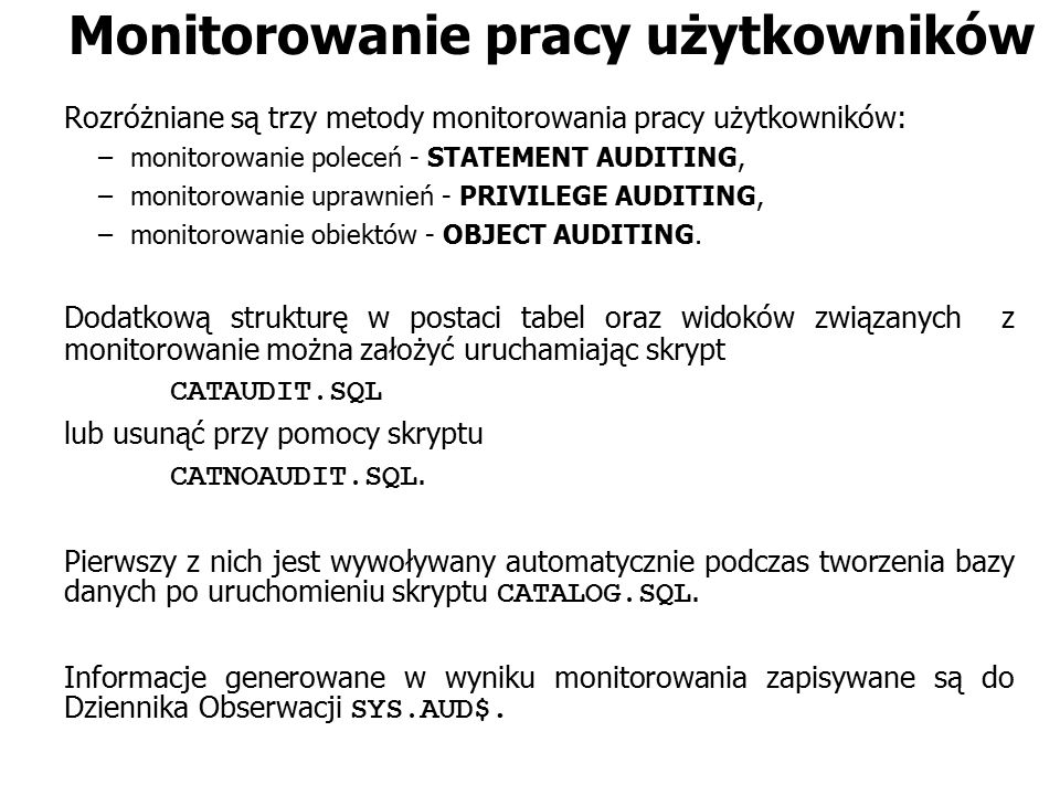 Monitorowanie pracy użytkowników
