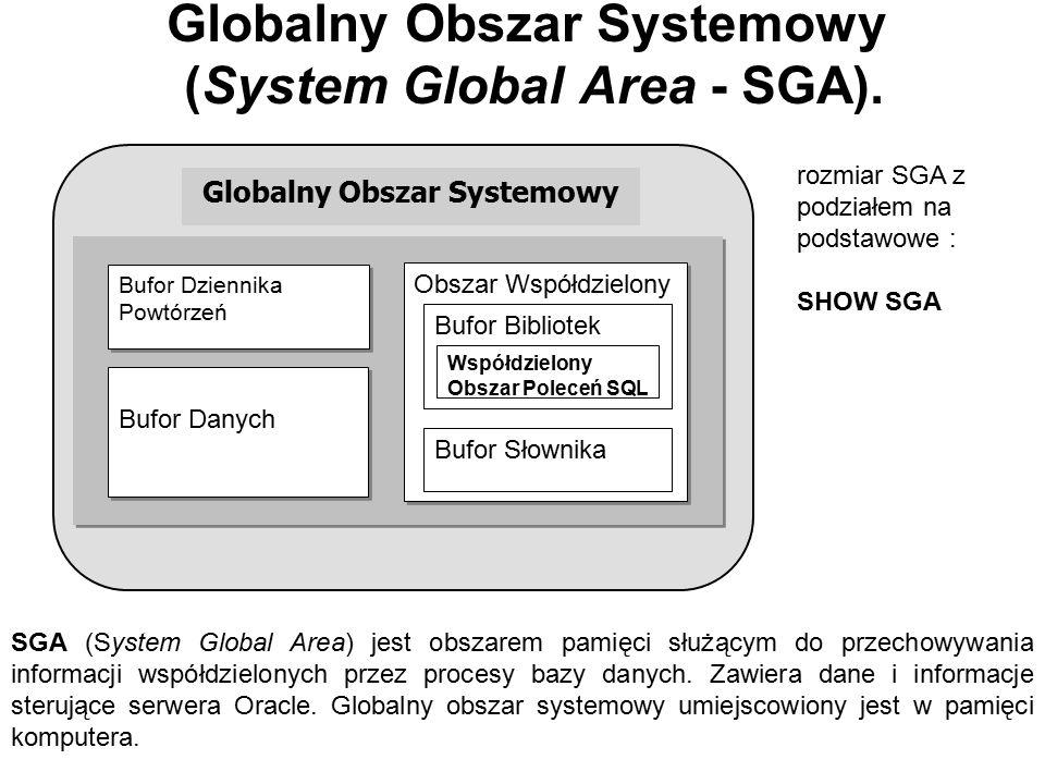 Globalny Obszar Systemowy (System Global Area - SGA).