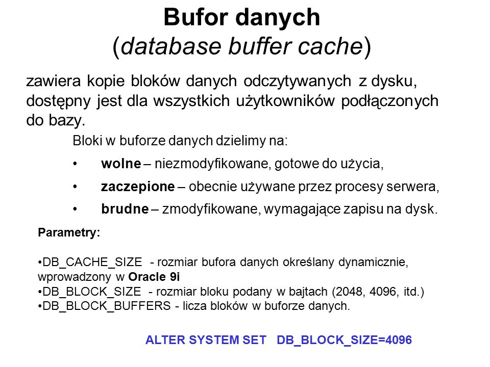 Bufor danych (database buffer cache)