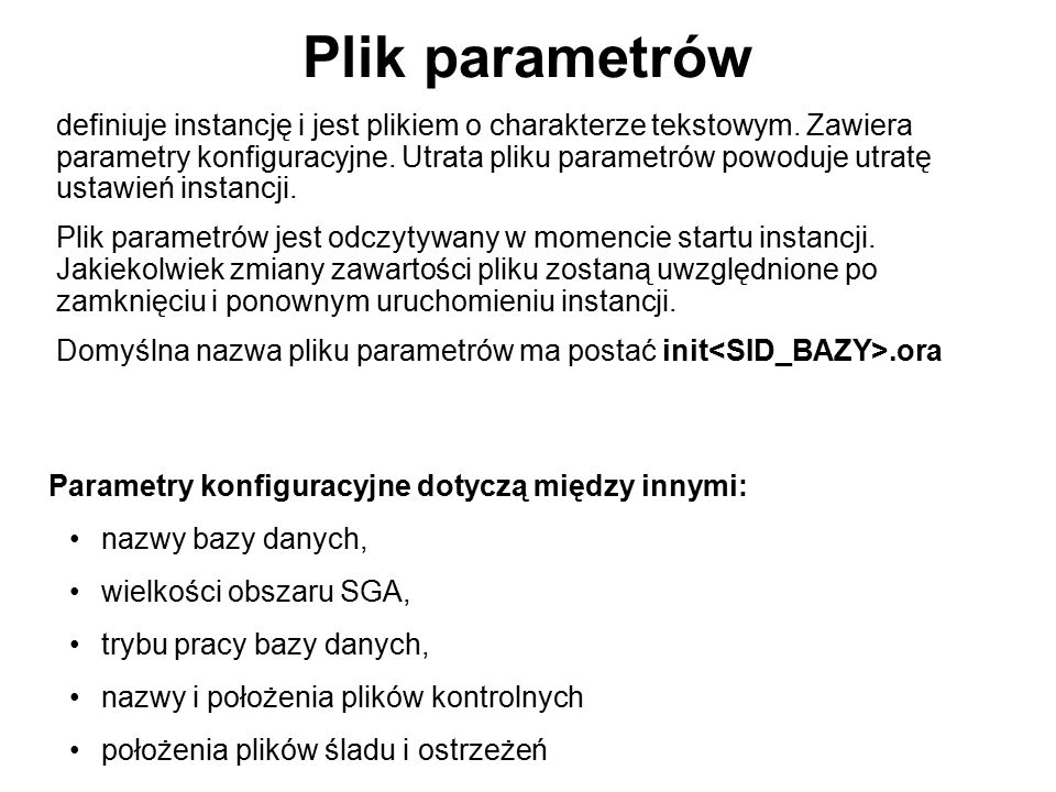 Plik parametrów