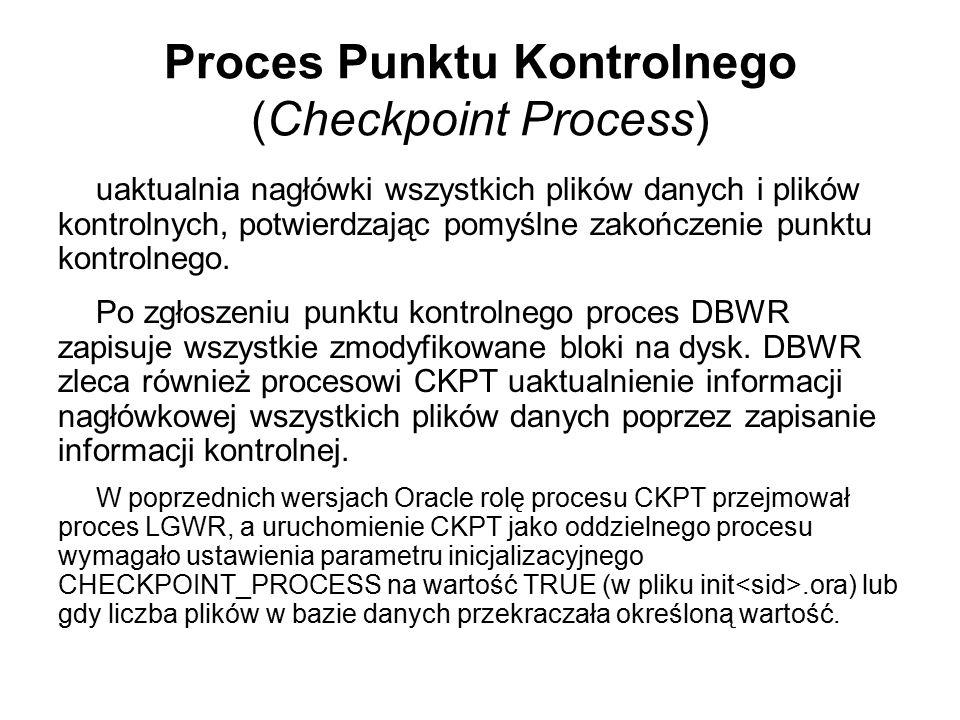 Proces Punktu Kontrolnego (Checkpoint Process)