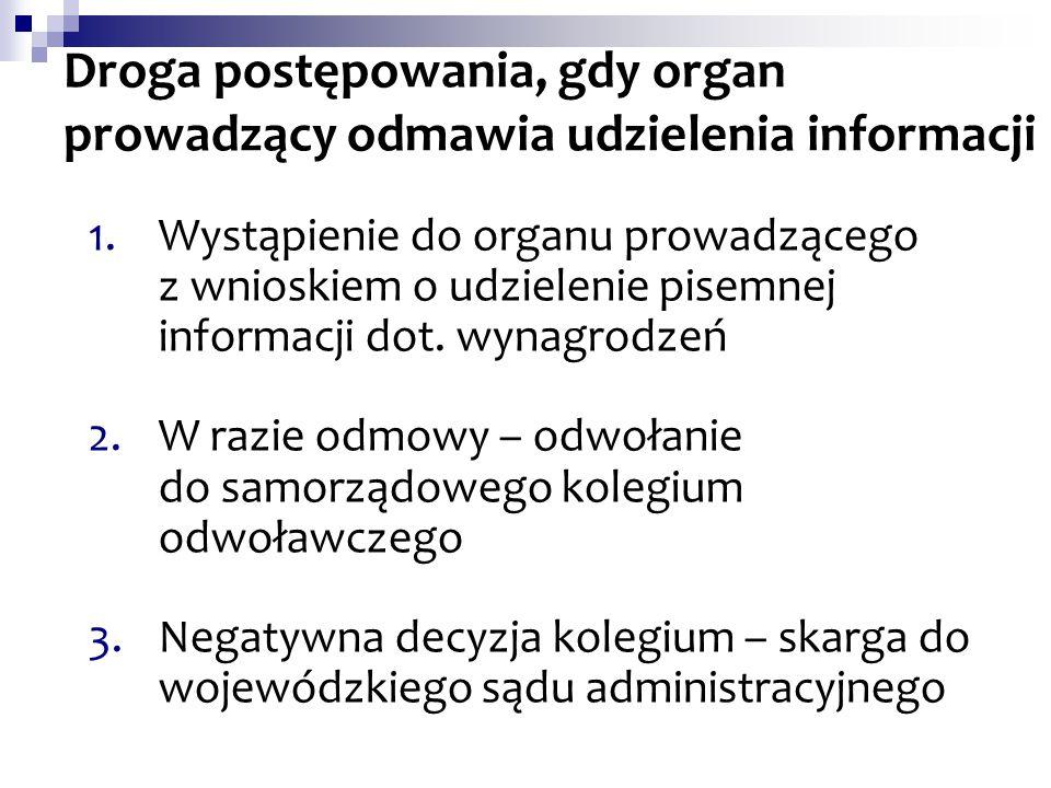 Droga postępowania, gdy organ prowadzący odmawia udzielenia informacji