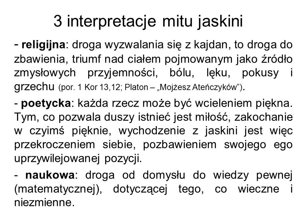 3 interpretacje mitu jaskini