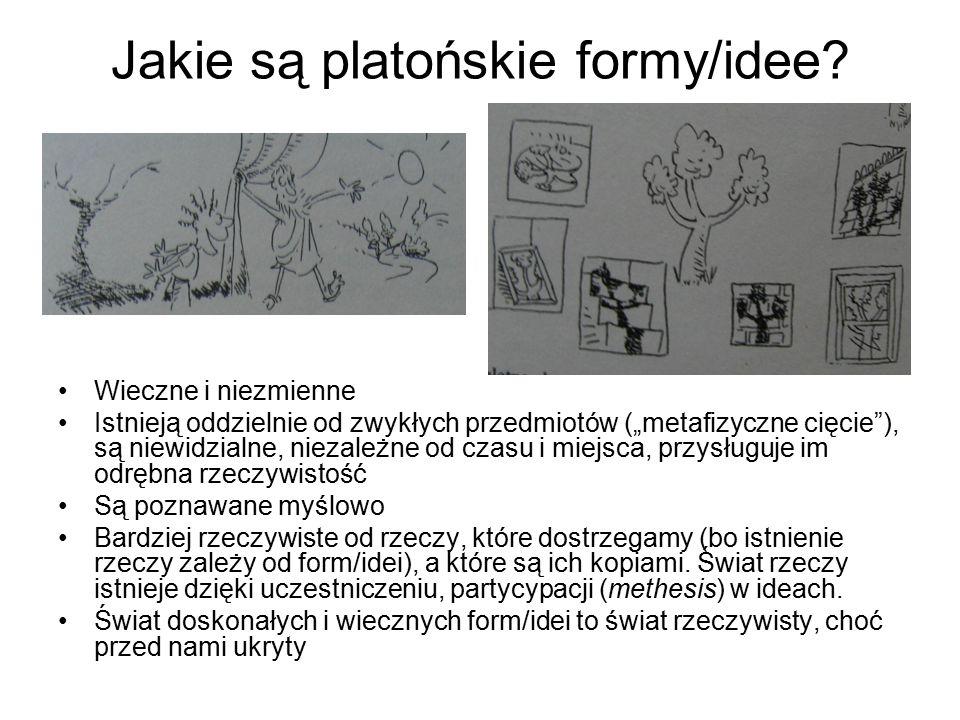 Jakie są platońskie formy/idee