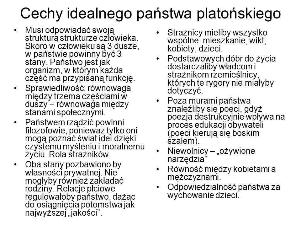 Cechy idealnego państwa platońskiego