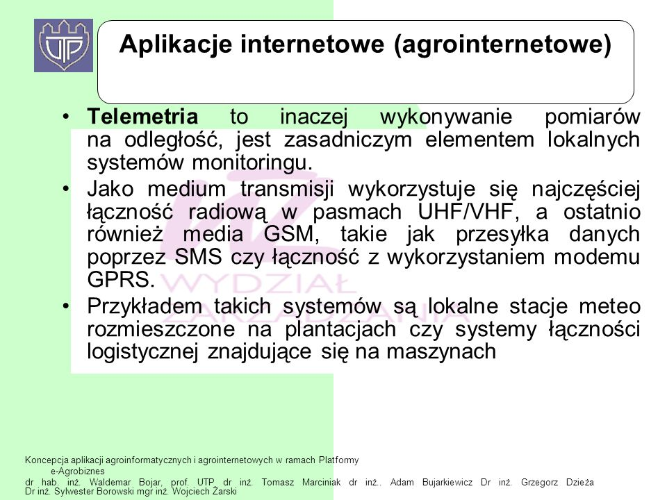 Aplikacje internetowe (agrointernetowe)