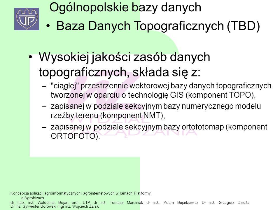 Ogólnopolskie bazy danych Baza Danych Topograficznych (TBD)