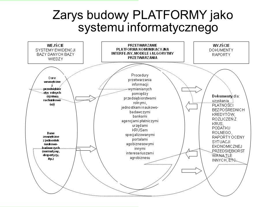 Zarys budowy PLATFORMY jako systemu informatycznego