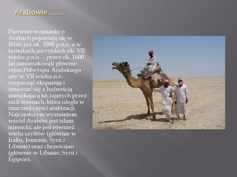 Pierwsze wzmianki o Arabach pojawiają się w Biblii już ok. 1000 p. n