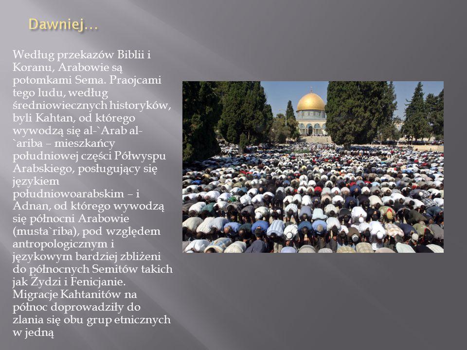 Według przekazów Biblii i Koranu, Arabowie są potomkami Sema