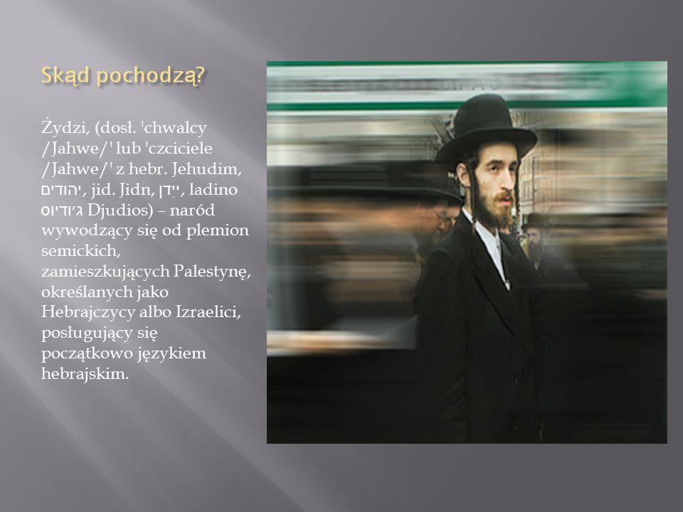 Żydzi, (dosł. chwalcy /Jahwe/ lub czciciele /Jahwe/ z hebr